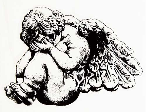 Crying Rubber Stamp Angel Baby Wooden Hand Wood Mounting Imports Art Stamps Amp