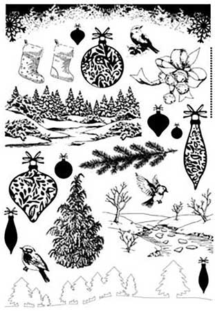Stamp import stamp art stamp of 22 kinds of clear stamp set floss tea  ornament Christmas