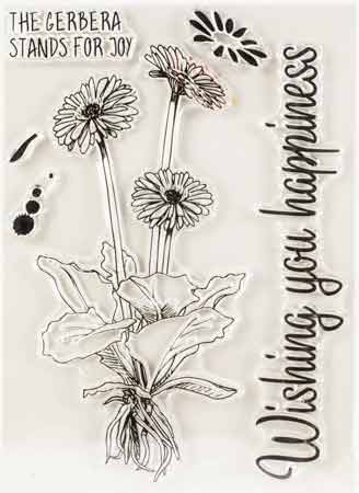 Clear stamp Barberton daisy import stamp art stamp