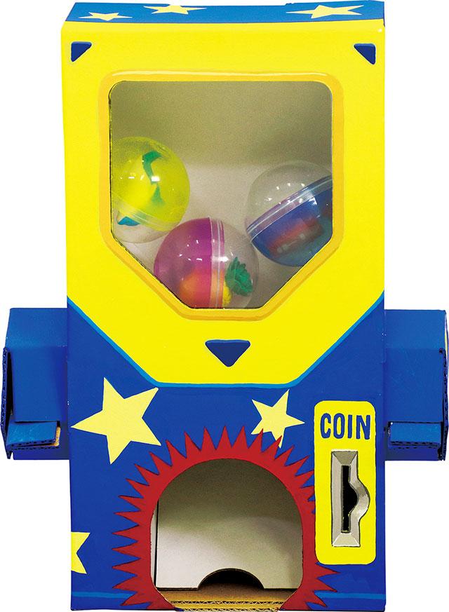 ハンドルを回すとカプセルが出てくる 買物 ガチャクラフト貯金箱 新作 人気 子供 小学生 手作り キット キッズクラフト 工作 貯金箱 おもちゃ アーテック