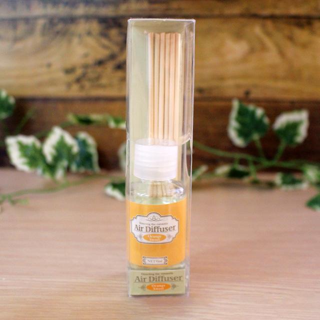 オレンジの酸味のある甘さの香りのディフューザー 再再販 Air Diffuser Orange Sweet エアーディフューザー オレンジスウィートの香り スティック付き フレッシュなオレンジ ランキング総合1位 ガラスボトル おしゃれ 癒し ルームフレグランス かわいい アロマ 小さい シンプル 人気 安い