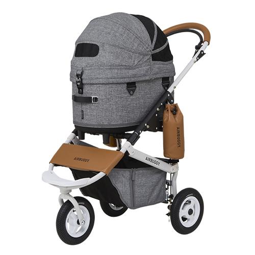 送料無料 ペットカート Air Buggy for Dog 市販 DOME3 驚きの値段で エアバギードーム3 REGULAR 小型多頭におすすめ アースグレー 小型犬 SET