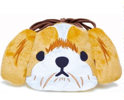 犬雑貨 上質 巾着ポーチ 最安値 シーズー ふわふわで超キュートっ リアルドッグ