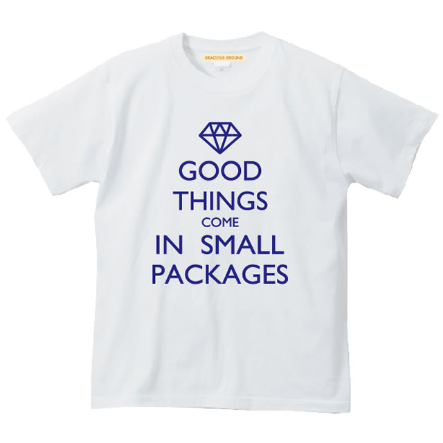 Gracious Ground Good Things Come In Small Packages Logo T Shirt