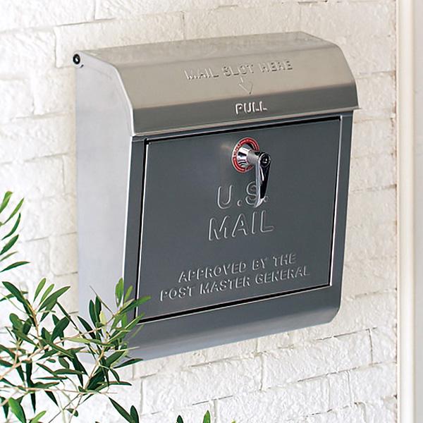 郵便ポスト 壁付け 郵便ポスト シンプル おしゃれ アメリカン ポスト 鍵付き レバータイプ 8色 ベージュ ブラック クリーム グリーン ダークグレー レッド シルバー イエロー 通販 郵便ポスト 郵便受け 壁掛け 大容量