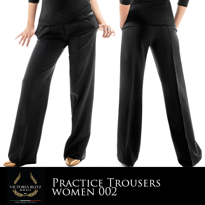 ダンスパンツ ビクトリアブリッツ Victoria Blitz プラクティスパンツ 社交ダンス 衣装 練習着 パンツ レディース 女性 XS-L 黒 イタリア 海外