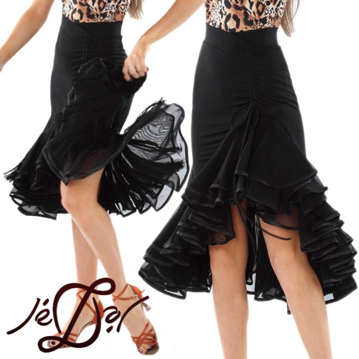 【社交ダンススカート - ジェドール(Je'Dor)】ロング・ラテン・スカート - 社交ダンス衣装/社交ダンスウェア/社交ダンスブランド