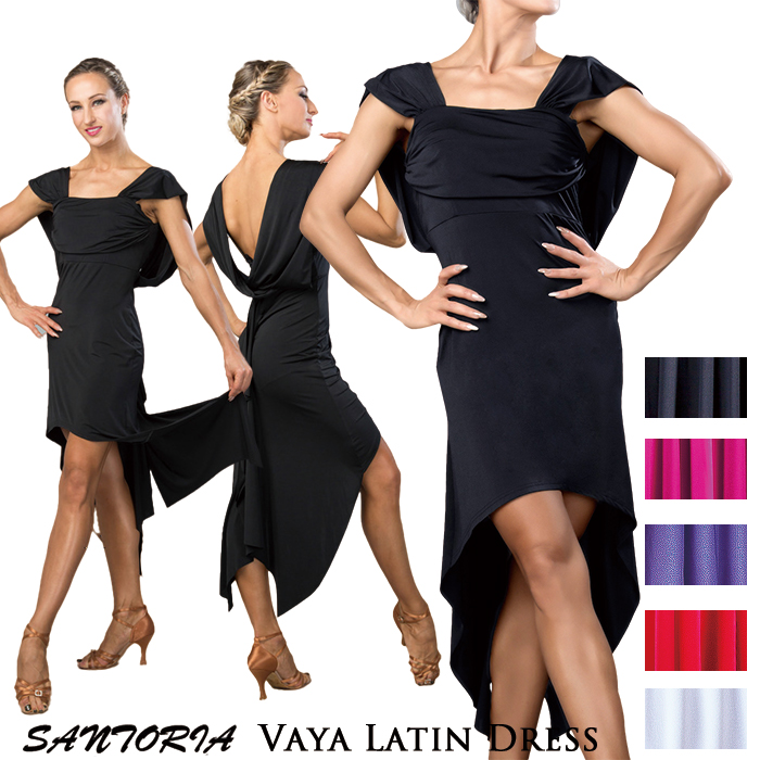 ラテン レディース バヤ・ラテンドレス 女性 社交ダンス衣装 Santoria ワンピース サントリア S-XL 社交ダンス ダンス 海外 練習着