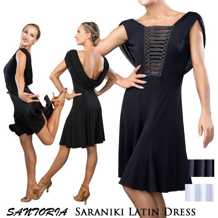 ダンス ラテン Santoria サラニキ・ラテンドレス ワンピース 社交ダンス衣装 社交ダンス サントリア 女性 レディース 海外 練習着 S-XL