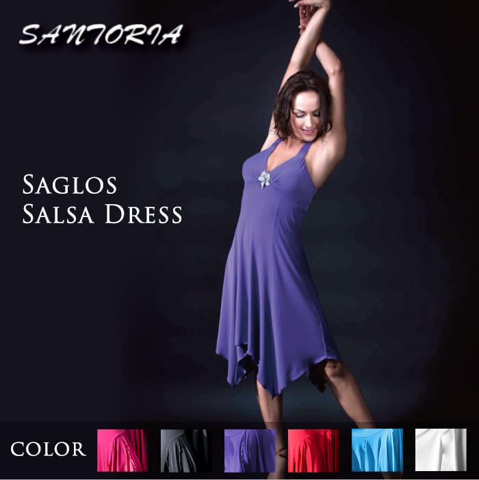 社交ダンス ワンピース Santoria サントリア サグロス・サルサドレス - 社交ダンス 社交ダンス衣装 社交ダンスウェア 衣装 ワンピース ラテン サルサ 海外 ブランド -