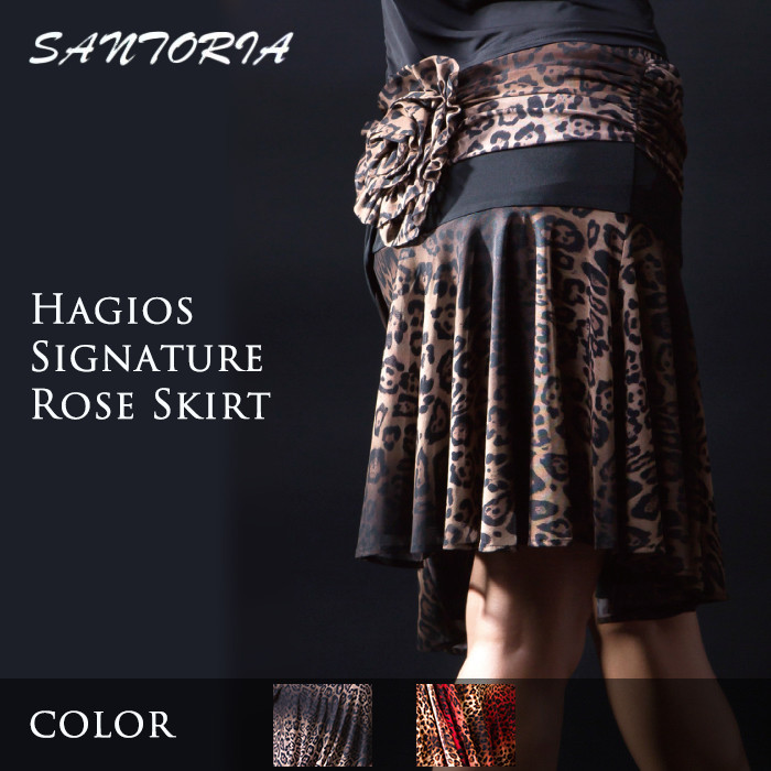 社交ダンス スカート Santoria サントリア ハギオス・シグネチャー・ローズスカート - 社交ダンス 社交ダンス衣装 社交ダンスウェア 衣装 スカート ラテン 海外 ブランド -