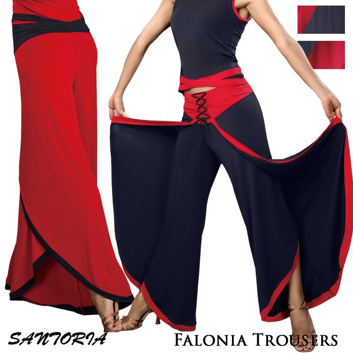 S-XL モダン ダンス 社交ダンス 海外 社交ダンス衣装 サントリア ファロニア・ダンスパンツ レディース ラテン 練習着 Santoria 女性 パンツ スタンダード
