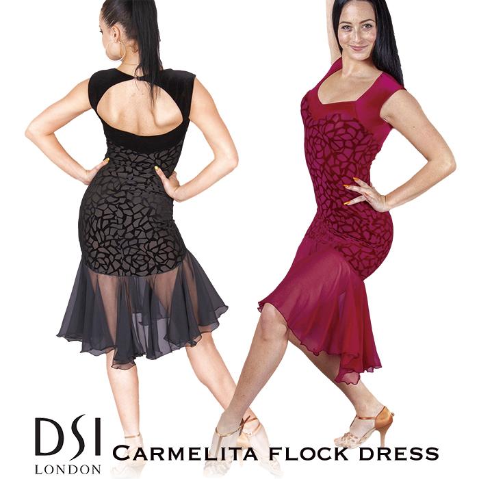 社交ダンス ワンピース DSIロンドン DSI London カーメリタ・フロック・ラテンドレス - 社交ダンス 社交ダンス衣装 社交ダンスウェア 衣装 ワンピース ラテン 海外 ブランド -