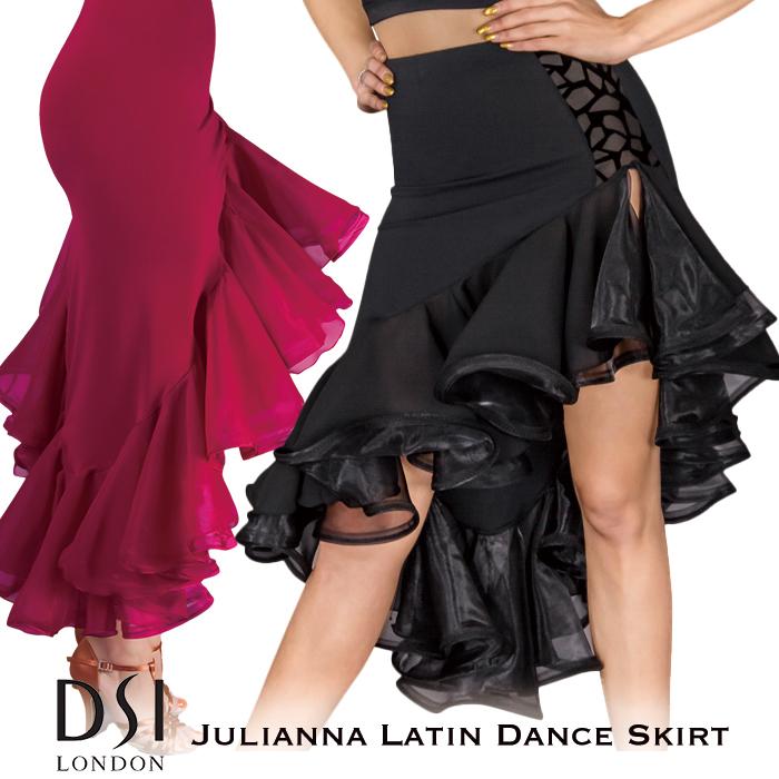社交ダンス スカート DSIロンドン DSI London ジュリアナ・テールカット・ラテンスカート - 社交ダンス 社交ダンス衣装 社交ダンスウェア 衣装 スカート ラテン 海外 ブランド -