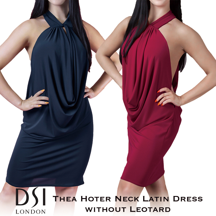 London DSIロンドン ワンピース XS-L 練習着 バーガンディ DSI ブラック ラテン 海外 社交ダンス 赤 黒 ファッション レディース ティア・ラテンドレス(レオタード無し) 女性 ラテンドレス