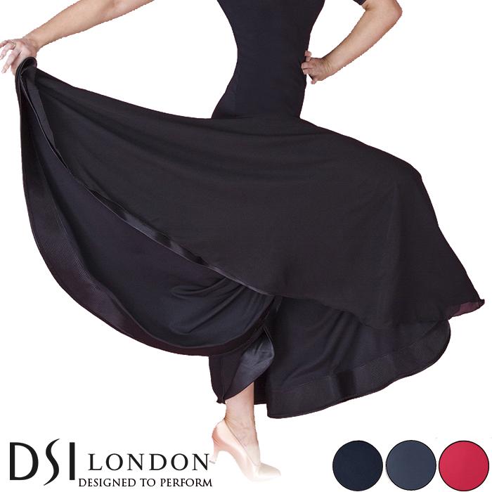 社交ダンス 練習着 スカート DSIロンドン DSI London タリア・ボールルームスカート モダン ロングスカート レディース ファッション 女性 XXS-L ブラック 黒 ヘマタイト グレー フラメンコ 赤 海外