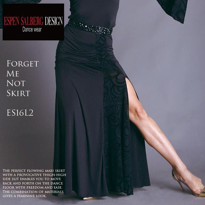社交ダンス スカート ESPEN SALBERG エスパン・サルバーグ フォゲットミーノット・ロングスカート(フロックネット)- 社交ダンス 社交ダンス衣装 社交ダンスウェア 衣装 スカート モダン スタンダード ラテン 海外 ブランド -