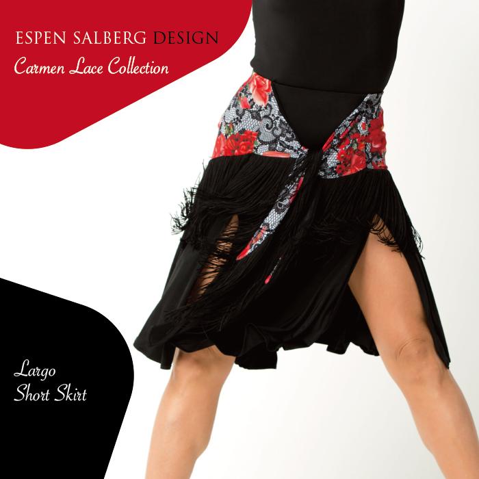 社交ダンス ダンスウェア スカート ESPEN SALBERG エスパン・サルバーグ ラルゴ・ショートスカート(プリント)- 社交ダンス 社交ダンス衣装 社交ダンスウェア 衣装 スカート ラテン 海外 ブランド -