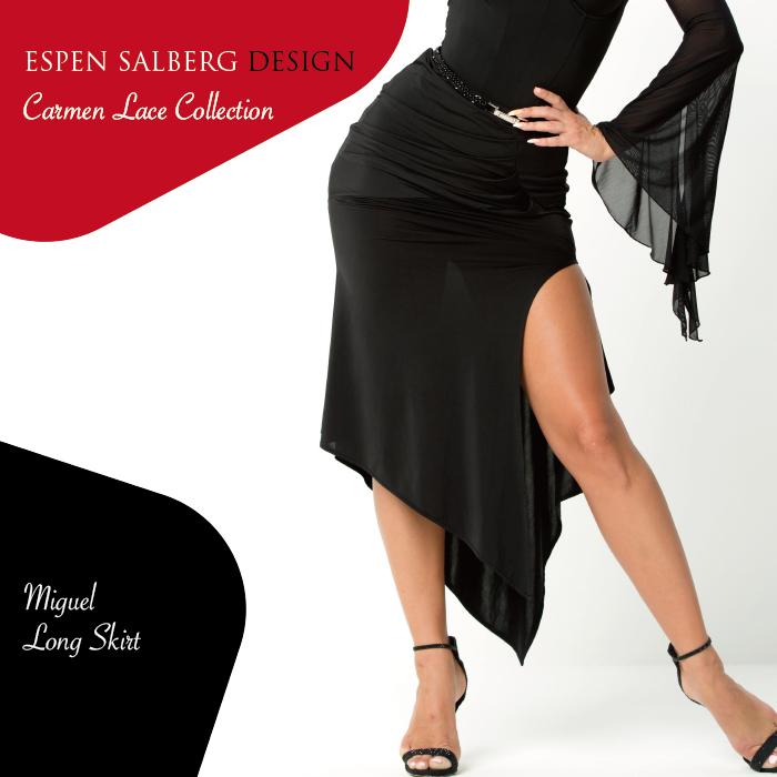 社交ダンス ダンスウェア スカート ESPEN SALBERG エスパン・サルバーグ ミゲール・ロングスカート(ブラック)- 社交ダンス 社交ダンス衣装 社交ダンスウェア 衣装 スカート モダン スタンダード ラテン 海外 ブランド -
