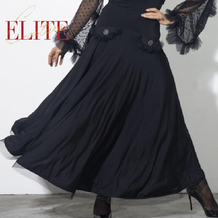 SALBERG エスパン 社交ダンス 海外 ESPEN 練習着 エリアーヌ・ロングトスカート スカート レディース 女性 サルバーグ モダン XS-L ダンス 社交ダンス衣装