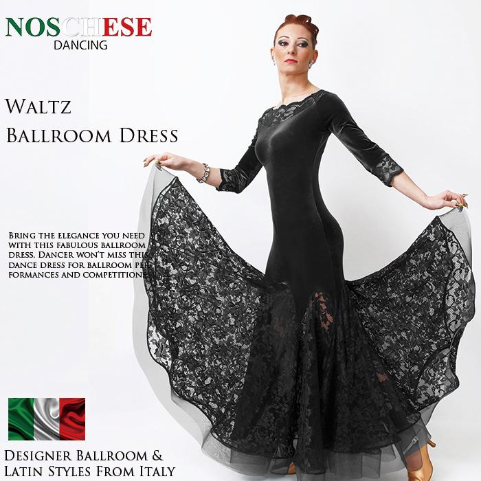 社交ダンス ワンピース Noschese ノスケーゼ ワルツボールルームドレス イタリア製 【サイズ有 XS/S/M/L】 送料無料 モダンドレス