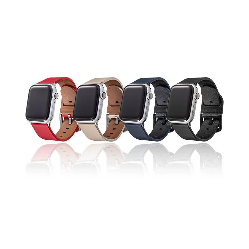 送料無料 アップルウォッチ バンド 本革 メンズ レディース series 6 SE 5 年間定番 4 3 2 1 44mm 42mm ビジネススタイル 捧呈 アップルウォッチバンド 本革レザー Watch ブラック 手首周り Apple apple コンパチブル 38mm GRAMAS watch 対応 約150#12316;190mm 40