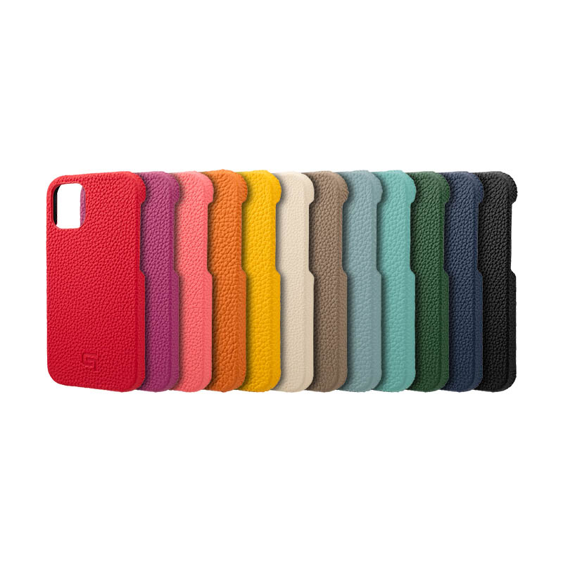 GRAMAS iPhone12 miniケース mini 本革 背面 German Shrunken-calf ワイヤレス充電 Shell 使い勝手の良い 定番から日本未入荷 カメラ保護 Leather Genuine Case QI充電 耐衝撃