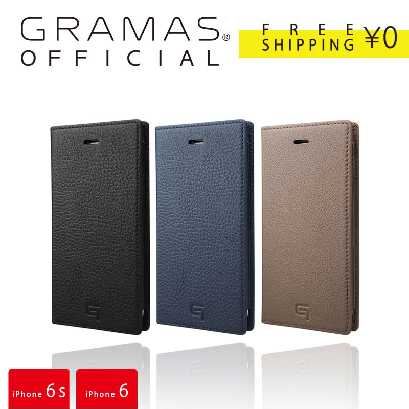 【公式】 GRAMAS グラマス Shrunken-calf Full Leather Case for iPhone6s/6 送料無料