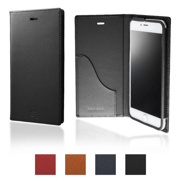 公式 グラマス GRAMAS iPhone8 Plus / iPhone7 Plus ケース 手帳型 Full Leather Case 送料無料