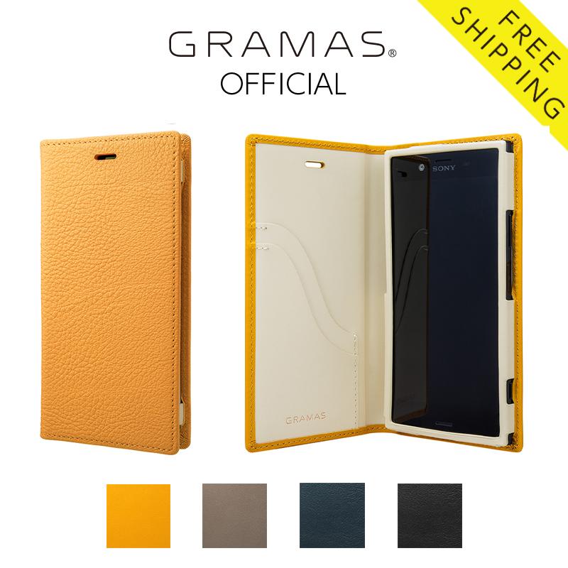 【公式】 GRAMAS グラマス Xperia XZ1 ケース 手帳型 手帳 Full Leather Case 【 送料無料 】高級 ビジネス ギフト プレゼント