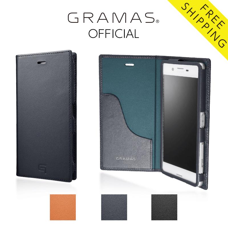 【公式】 GRAMAS グラマス Xperia X Performance ケース 手帳型 手帳 Full Leather Case 【 送料無料 】高級 ビジネス ギフト プレゼント