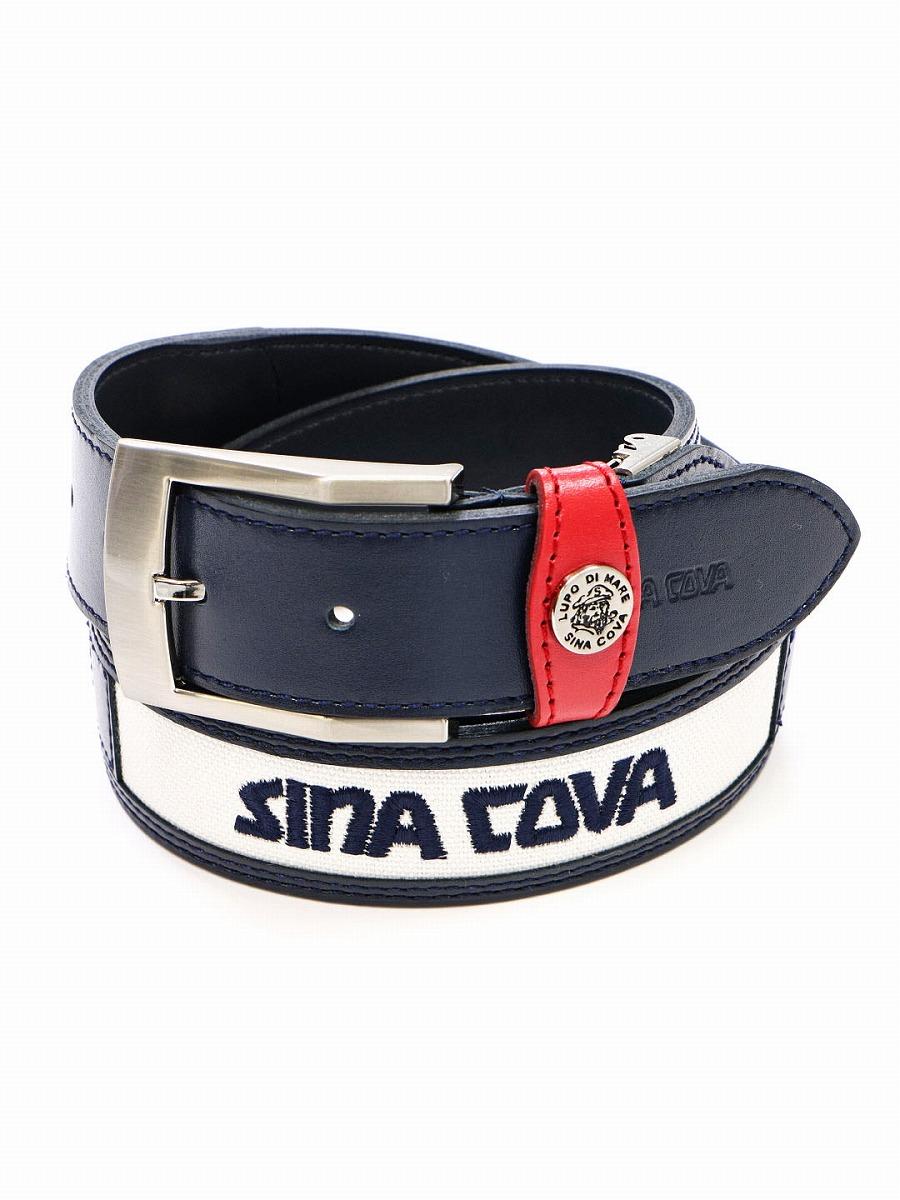 【大きいサイズ・メンズ】シナコバ/SINA COVA ツーラインロゴ入ベルト  グランバック 大きいサイズ