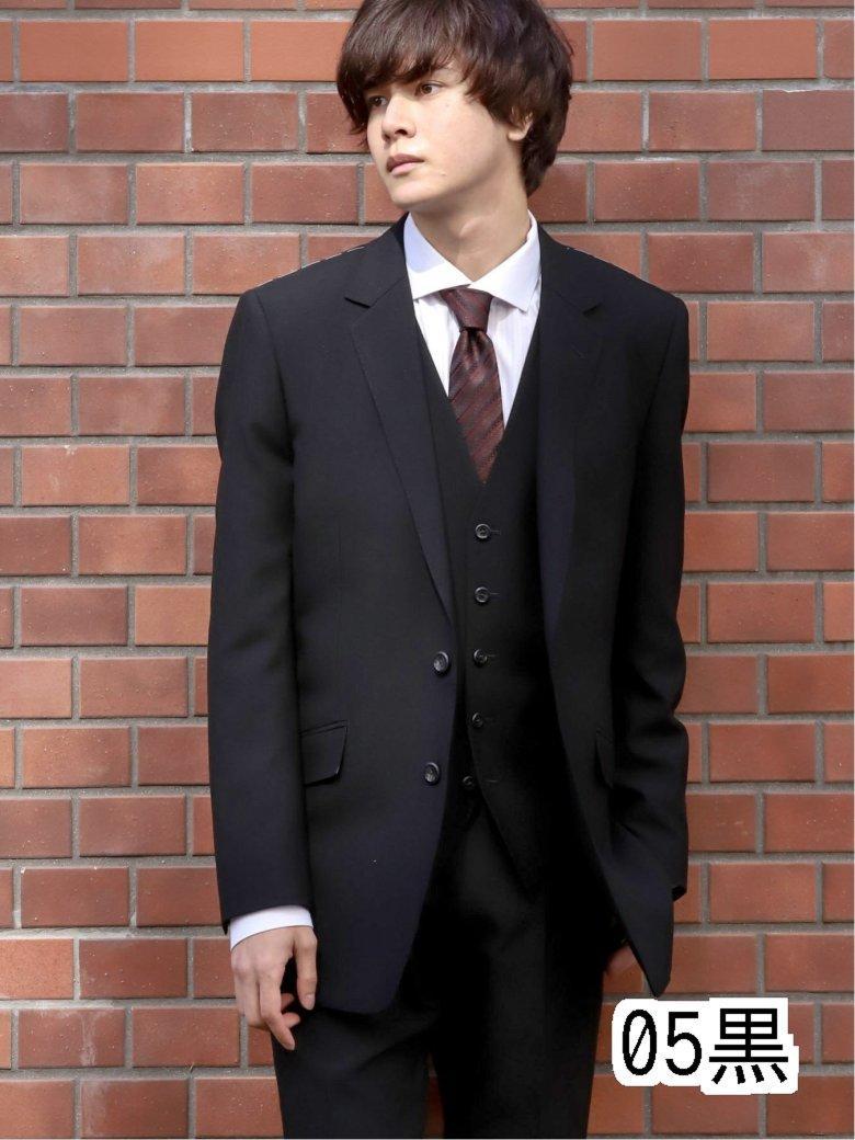 【70周年記念】シェラック/SHELLAC ウール スリムフィット2釦3ピーススーツ 黒