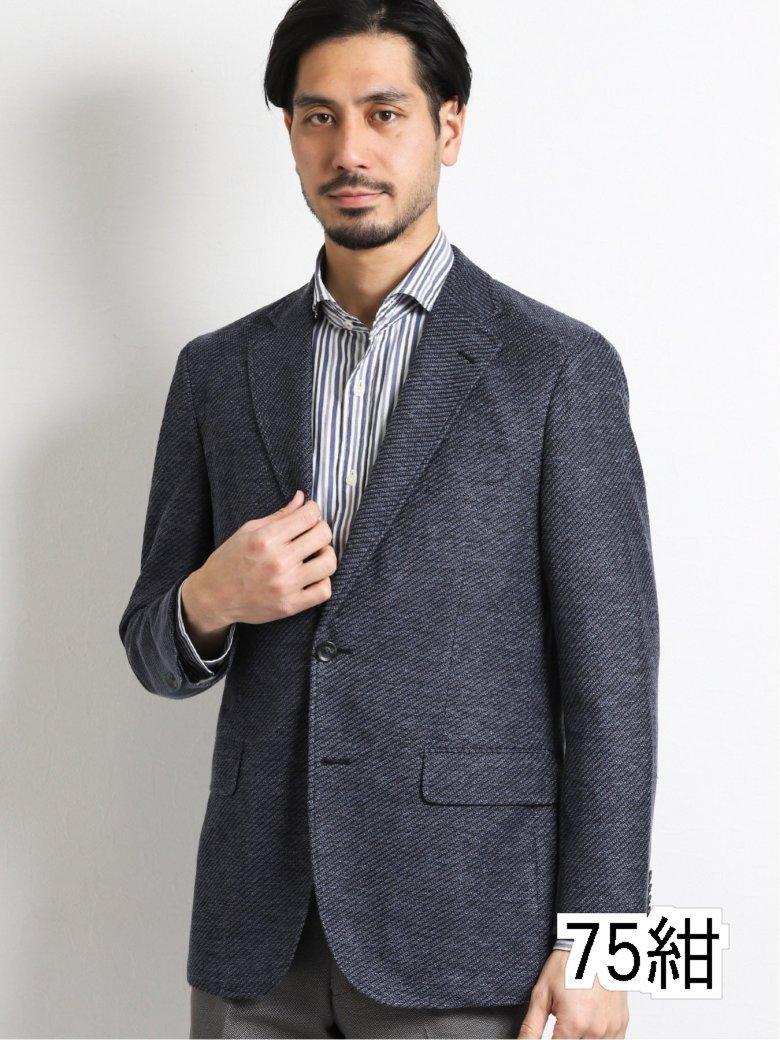 【メンズ】リネン混ニット2釦テーラードジャケット