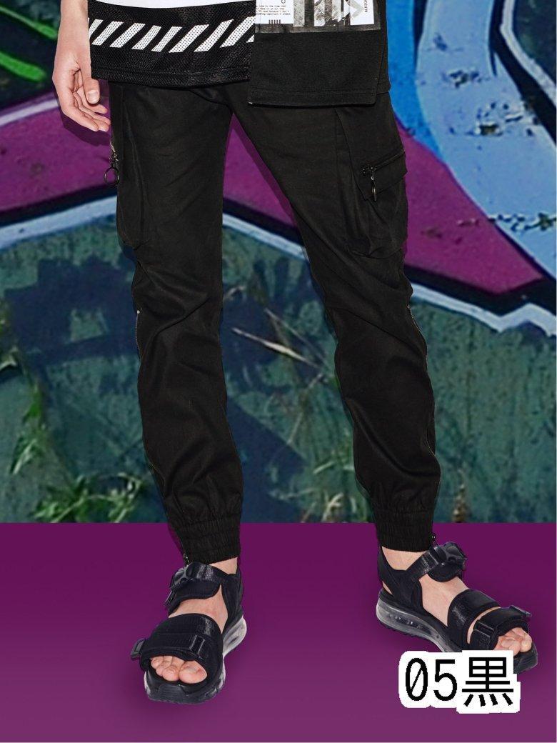 【メンズ】ファスナー付きカーゴパンツ