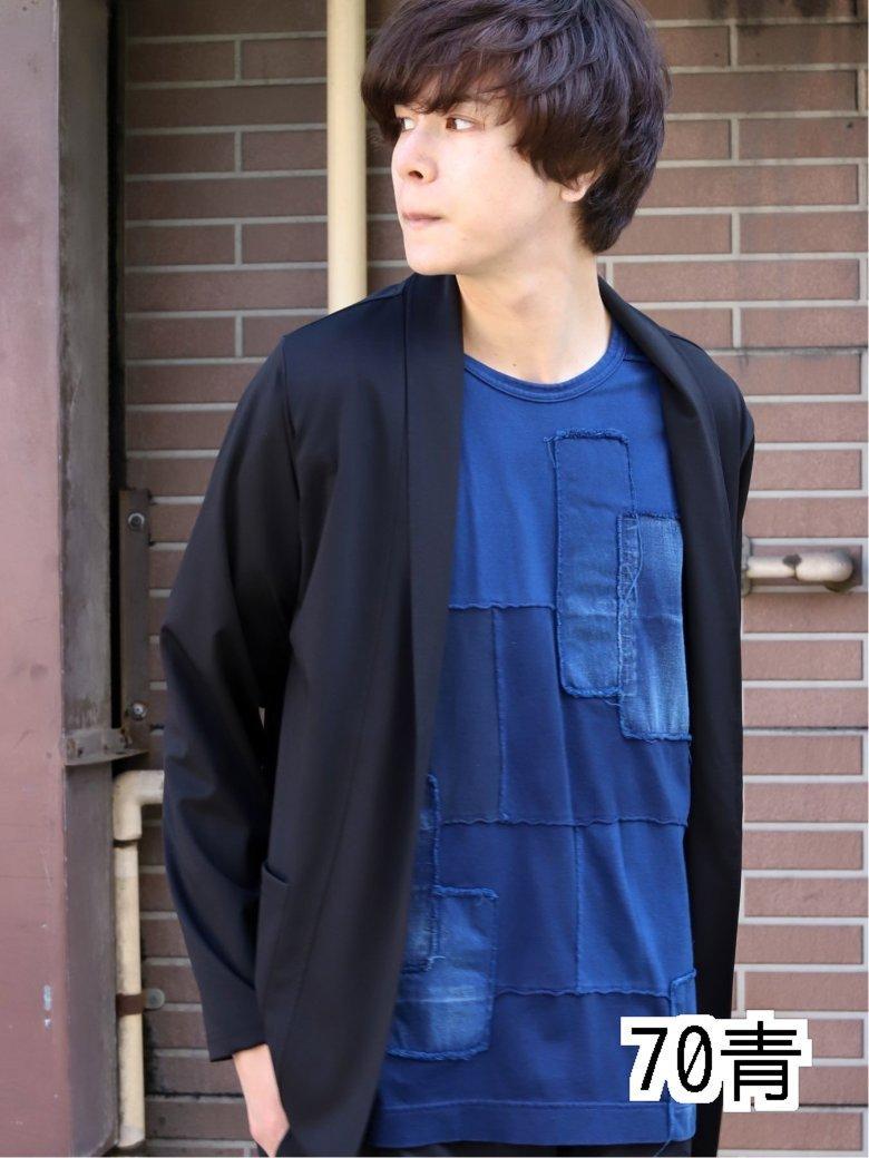 【70周年記念】MADE IN JAPAN インディゴパッチワーク半袖Tシャツ