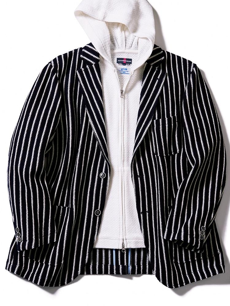 【大きいサイズ・メンズ】チェーンラッセル2釦シングルジャケット
