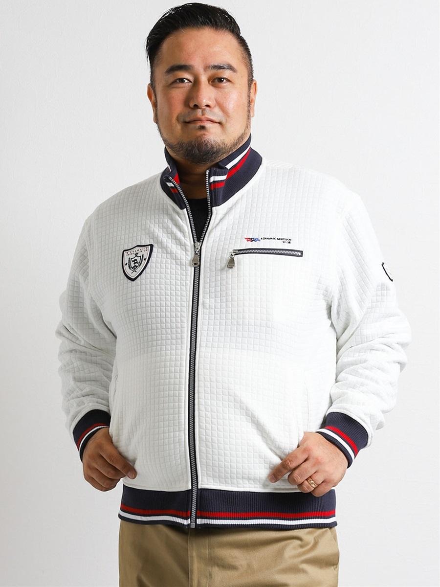 【大きいサイズ・メンズ】VAGIIE (バジエ)ふくれジャガードキルティングトラックジャケット