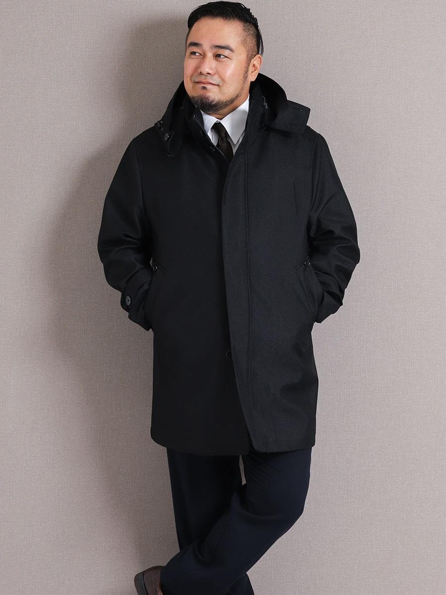 【大きいサイズ・メンズ】グランバック/GRAND-BACK ライナー付きボンディング スタンドカラーフーデッドコート