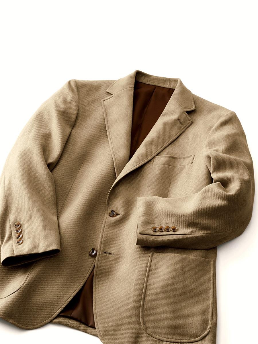 【大きいサイズ・メンズ】ポリスウェードシングルジャケット