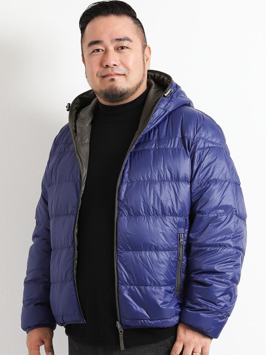 【大きいサイズ・メンズ】ナイロン20Dリバーシブルダウン
