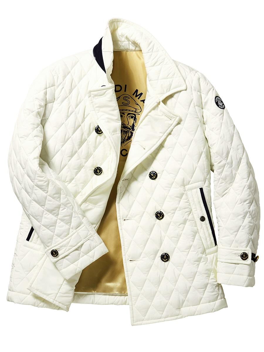 【大きいサイズ・メンズ】SINA COVA (シナコバ)キルティングピーコート
