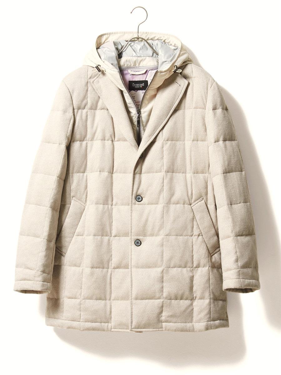 【大きいサイズ・メンズ】barassi MILANO (バラシ ミラノ)フード付ダウンハーフコート
