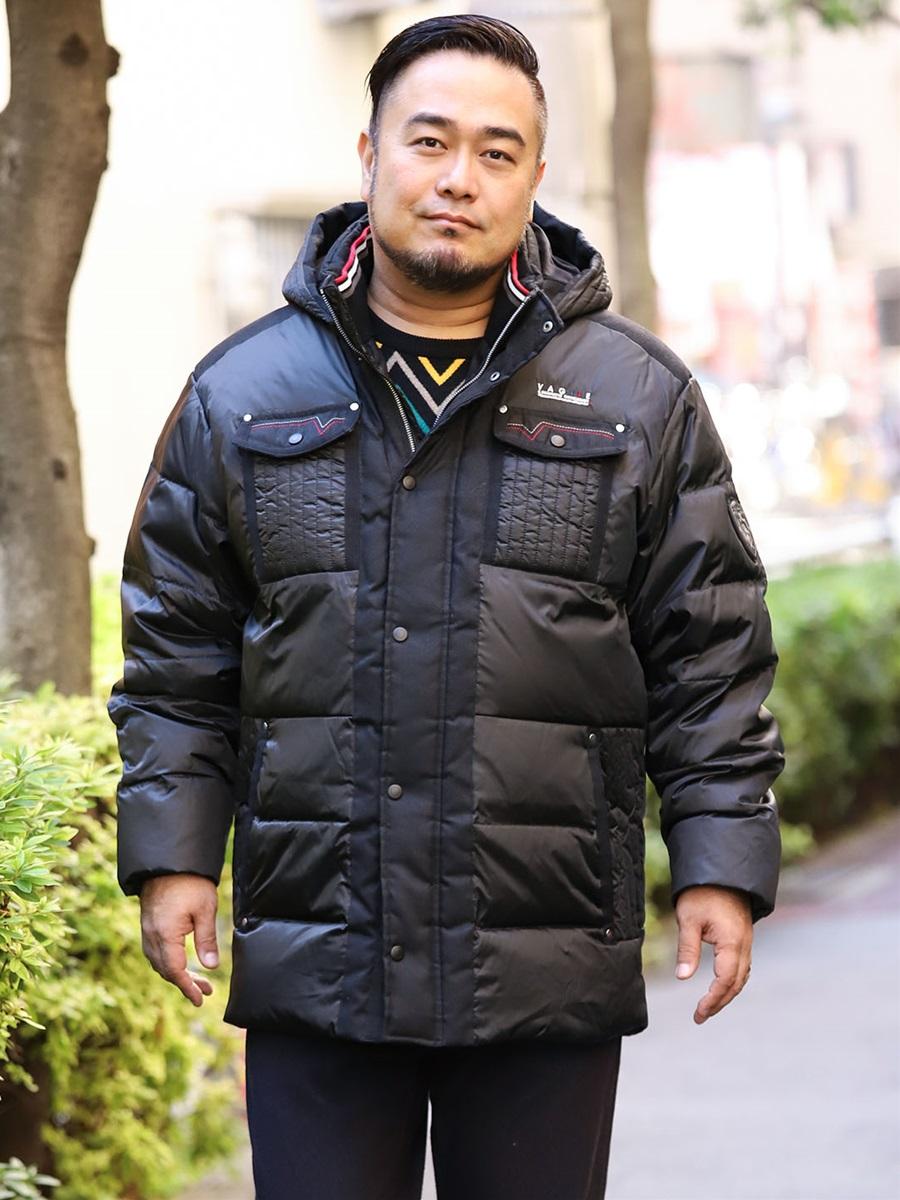 【大きいサイズ・メンズ】バジエ/VAGIIE シャンブレータフタダウンブルゾン