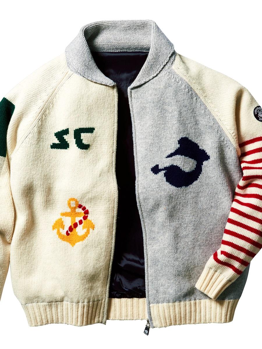 【大きいサイズ・メンズ】シナコバ/SINA COVA インターシャ ショールカラーニットジャケット