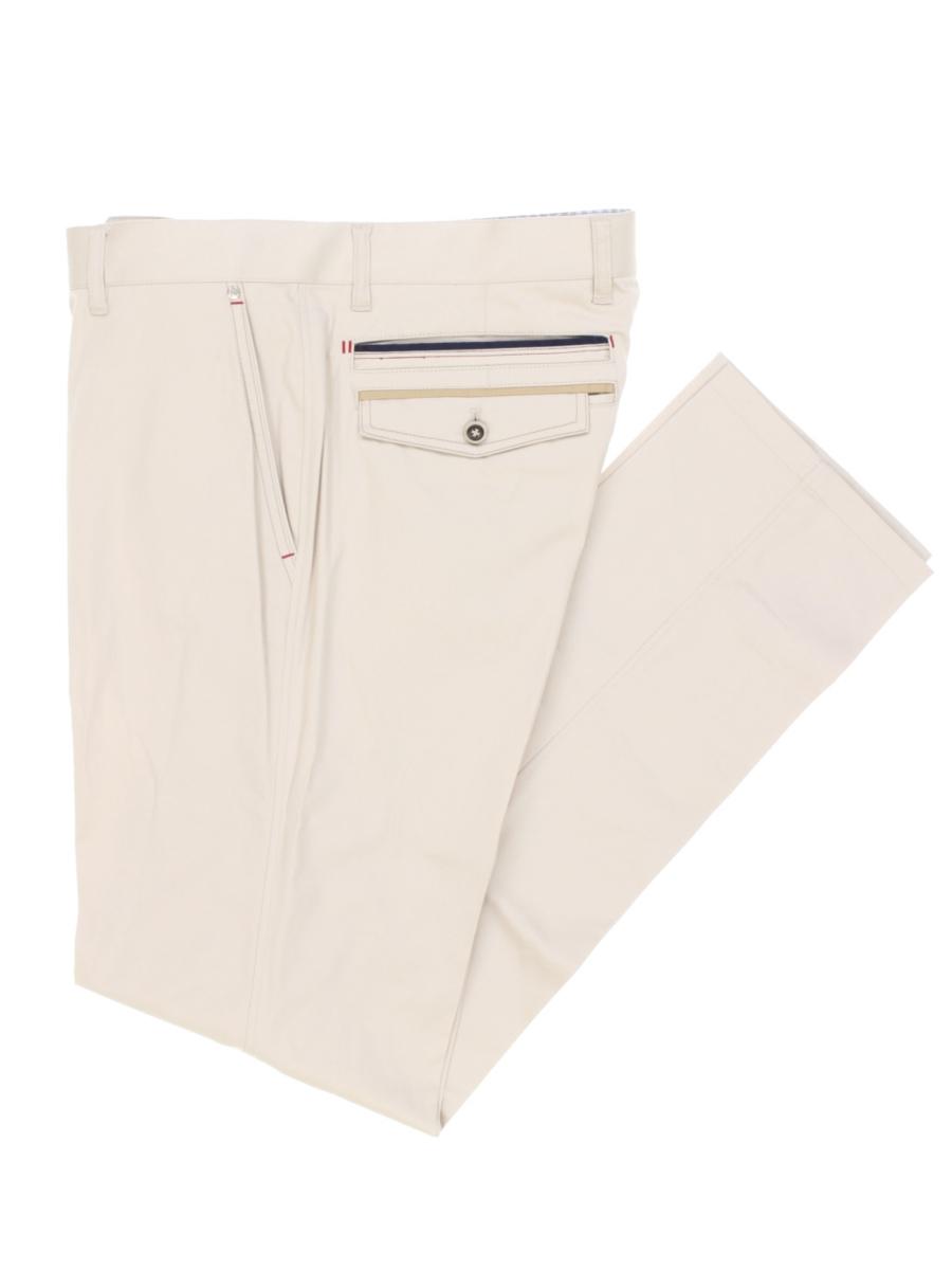 【大きいサイズ・メンズ】バジエ/VAGIIE 綿サテンストレッチパンツ