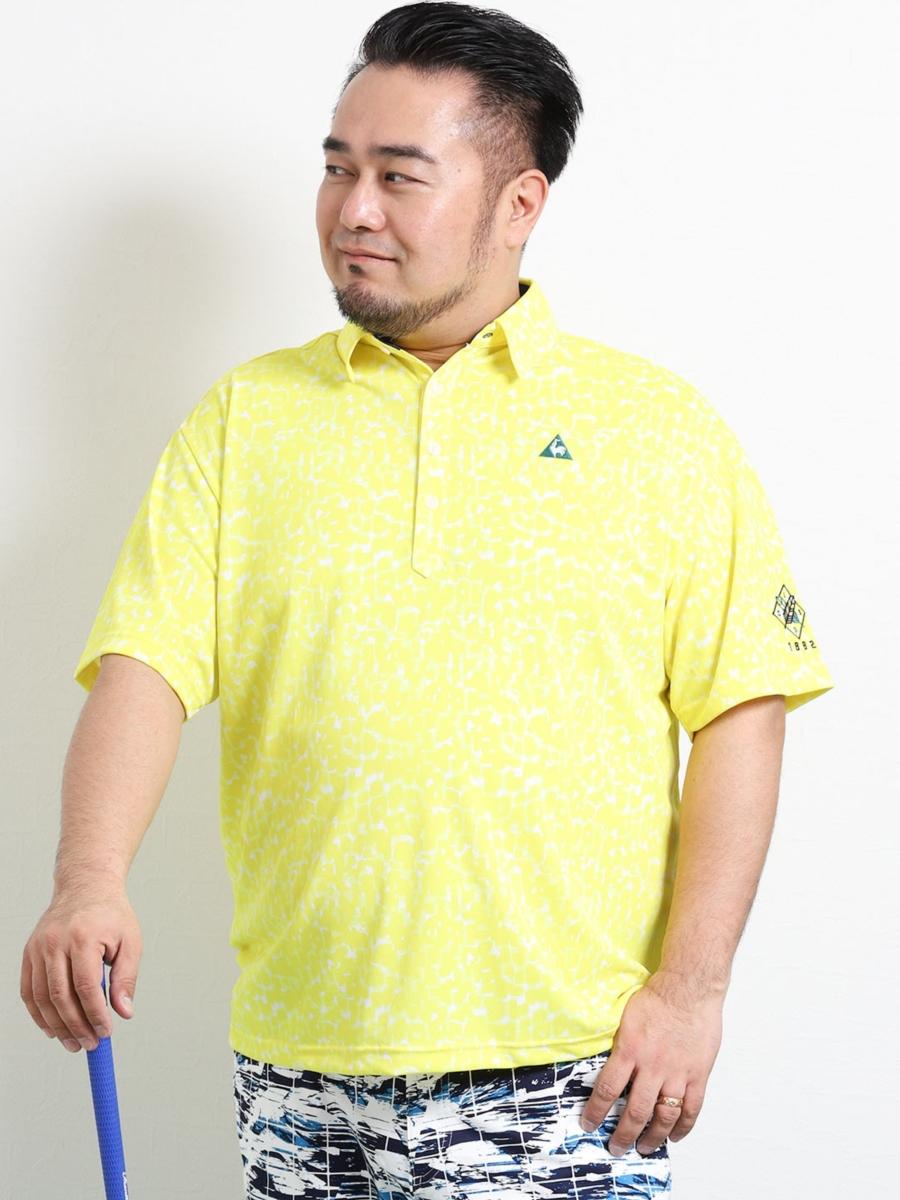【大きいサイズ・メンズ】ルコックスポルティフ ゴルフ/le coq sportif GOLF レパード総柄プリント半袖ポロ
