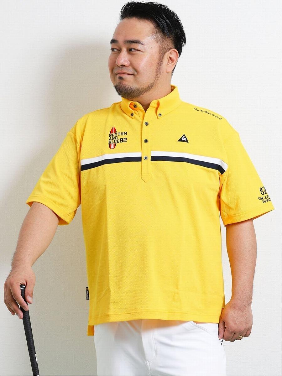 【大きいサイズ・メンズ】ルコックスポルティフ ゴルフ/le coq sportif GOLF 胸ライン半袖ポロ
