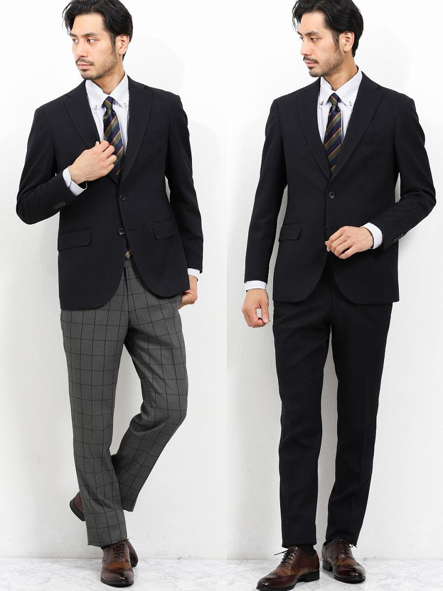 【メンズ】トラベスト/TRABEST コーディネート2パンツ レギュラーフィットスーツ カルゼ紺 レギュラースタイルスーツ