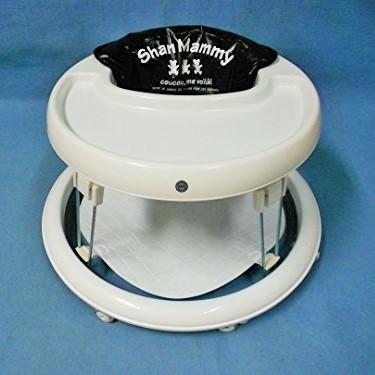 シートはビニール製なので汚れてもお手入れ簡単です。 日本製 歩行器(べビーウォーカー)クレエS・BL(ルンルンマット付き)